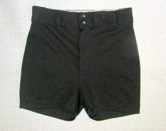 Size 12-14 vintage 70s extra high waist stretchy cheeky hotpant shorts (HY72)