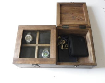 Watch Box Desk organizer personalized Rustic Men's Watch Box   box storage.Watch Box watch case  Wood Men Gift wood anniversary gift for men