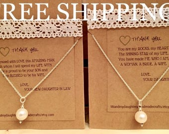 FREE SHIPPING!!! Mother of the Bride & Mother of the Groom Necklaces
