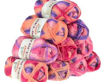 10 x 50 g knitting wool SELMA #01
