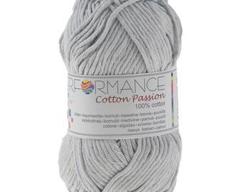 10 x 50 g knitting wool cotton passion grey 100% cotton #0292