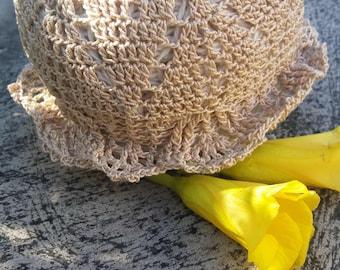 Newborn baby hat Crochet baby panama Summer panama Baby girl gift Baby shower gift Newborn gift Crocheted hat Summer baby panama