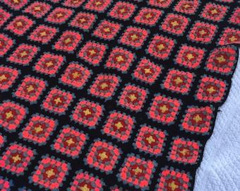 Vintage Granny Square Afghan