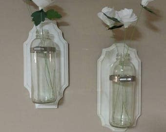 Flower holder sconces