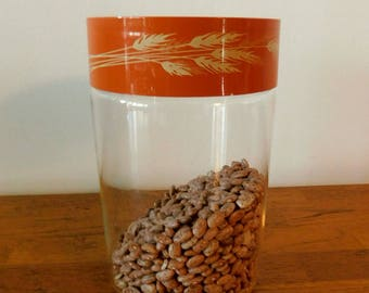 Harvest Wheat canister by Corningware for Pyrex 1970s SHIPPING INCLUDED