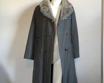 60's Mink collar coat