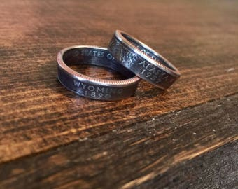 State Coin Rings • State Quarter Ring • Unique Jewelry