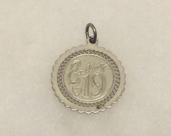 Sterling Silver exciting 19 charm pendant #46