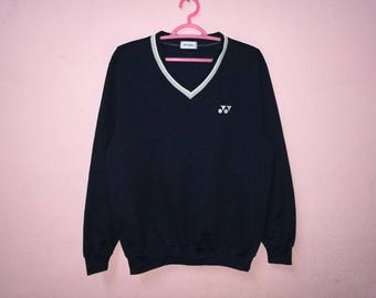 Rare!! Yonex Small Logo Embroidery Pullover Jumper Sweatshirt