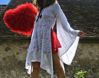 "White fairy tunic ""body heart"" devoured fine and beautiful Jersey"