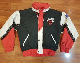 Vintage Chicago Bulls Jacket, 90s Pro Player Jacket, Size M