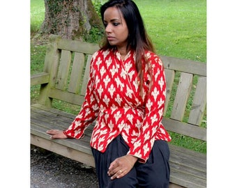 Red Tribal Cotton Jacket