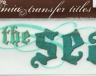 By The Sea Title Rub On Transfer Embellishments Cardmaking Crafts My Mind's Eye Bohemia