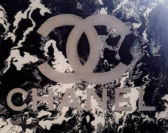 Chanel Painting, Huge Chanel Painting, Abstract Chanel Painting, Huge Wall Art, Large Abstract Painting