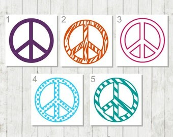 Peace Sign Decal, Peace Decal, Peace Symbol Sticker, Hippie Decal, Groovy Decal, Car Decal, Laptop Decal, Tumbler Decal, Gift for Hippies