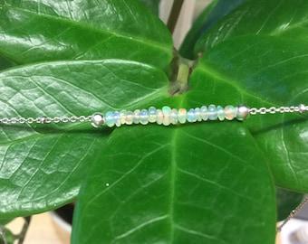 Ethiopian Opal bar necklace/choker