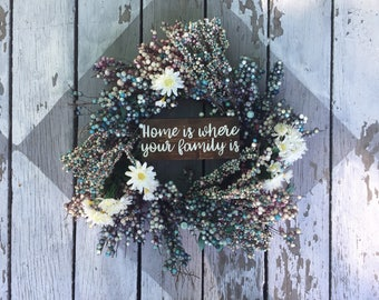 Home is where your family is sign for homes