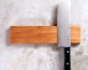 Magnetic Knife Rack - New England Cherry, Rare Earth Magnets, Multiple Sizes Available