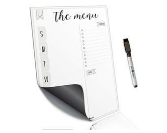 Meal Planner~Weekly Meal Planner~Daily menu planner~Dry Erase Menu~Weekly Menu Board