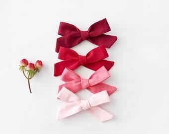 2 Valentine's Day Schoolgirl Bows