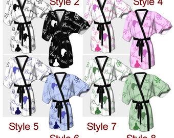 Bridesmaid, Kimono,Robe, Kimono, Dressing Gown, Bridesmaid Robe, Coverup, Spa Robe, Swimsuit Coverup, Robe, Wedding, Wedding Robe