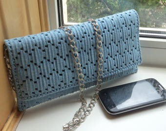Gently blue bag-clutch