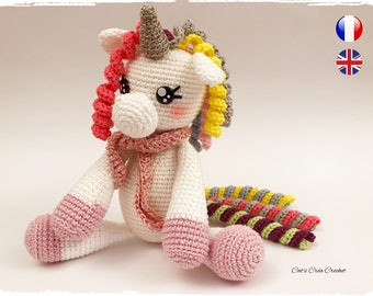 Pattern - PDF - pattern - Unicorn Kawaii crochet - BEST SELLER