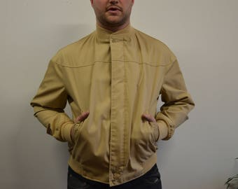 60s Authentic Catalina Gold Bomber Jacket, Vintage California Catalina Zipup