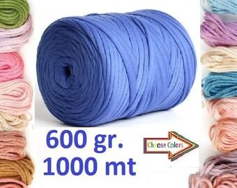 T shirt yarn, 600 gr cotton yarn, home textile yarn, crochet yarn, basket yarn, fabric yarn, bag yarn, elastic yarn, summer yarn, pattern
