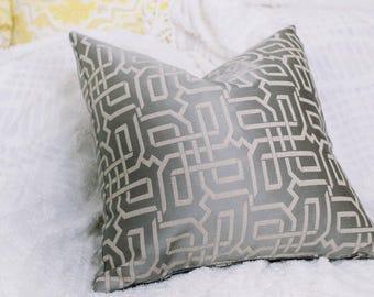 Silver Metallic Shimmer Pillow The Gainsboro Pillow Decorative Pillow Cover Throw Pillow Accent Cushion 18 x 18 20 x 20