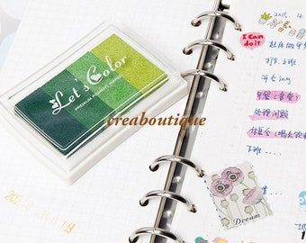 Ink Pads/Rubber Stamp/ scrapbooking/Green gradient/ink 4 colors