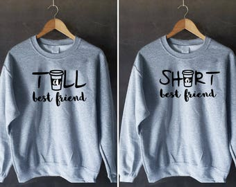BFF jumper, Bff Pullover, Couples Sweater, Bff Sweater, duo sweatshirts, bff shirt set, set of shirts bff, best friends sweater