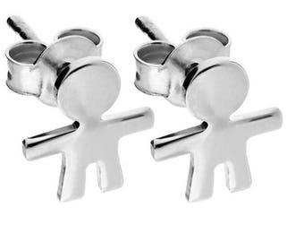 Sterling silver 925 earrings hypoallergenic birth promo