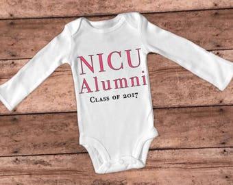 NICU alumni/preemie clothes/NICU/NICU onesie