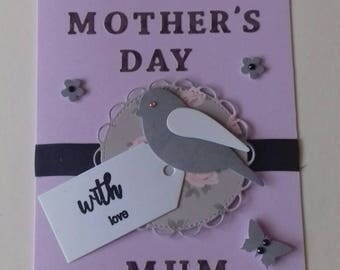 Purple Mother's Day card for Mum/Nan