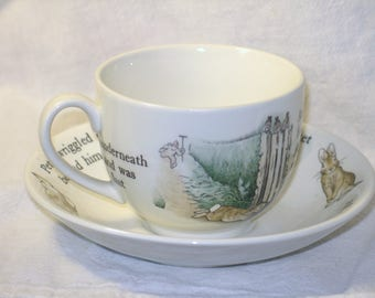 Beatrix Potter Peter Rabbit Child's Cup and Saucer by Wedgwood