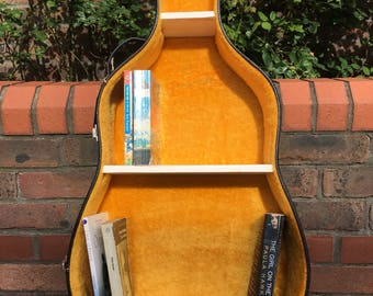 Guitar case bookshelf