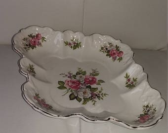 James Kent Old Foley Pink & White Flowers 'Harmony Rose' Dish