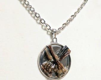 Bat Leg Necklace - Taxidermy - Bizarre Jewelry - Handmade - Oddities