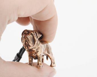 Vakkancs Mastino Napoletano minisculpture keychain (3D solid bronze)