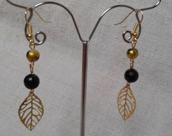 """golden leaves"" earrings"
