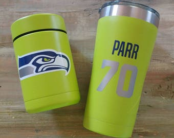 Seahawks decal, team decal, Washington State decal,  numbers decal, name decal, yeti decal, tumbler decal, car decal, car sticker, mug decal