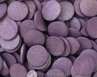 Large Violet Glimmer Confetti Sprinkles, Shimmering Edible Cake Sugar Sprinkles, Cupcake Decorations, Confetti Cake Toppers