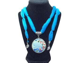 Peace & Tranquility – Art On Glass Necklace – one size fits all