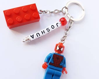 Superhero/Villan/Minifigure//Key Ring/Key Chain/Bag Tag//Any Name/Personalised//Gift/Back to School/Birthday/Mothers Day/Fathers Day/Lego