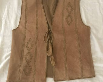 1980s Queens way to fashion boho vest large