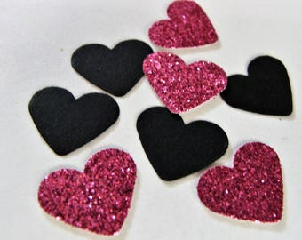 Pink Heart Confetti, Wedding Confetti,Bridal Shower Confetti, Birthday Party Decorations, Bachelorette Confetti, Party Decor,Pink Glitter
