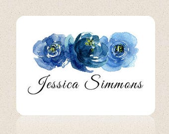 Personalized Stationary Set, Floral Stationary, Personalized Correspondence Cards, Personalized Thank You Cards, note cards,Digital, printed