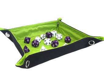 Green Collapsible Dice Tray