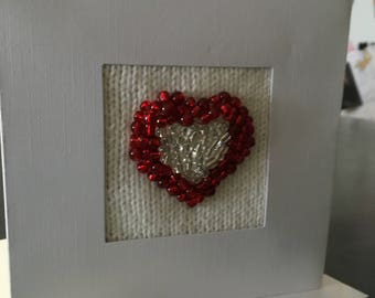 Beautiful Heart - Knitted Greeting Card